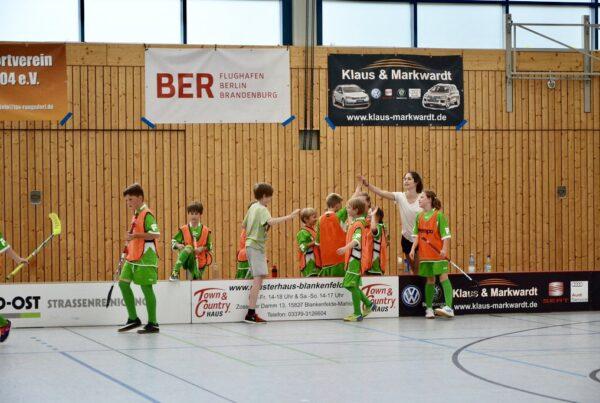 Nathalie Berger als Jugendtrainerin für den TSV Rangsdorf
